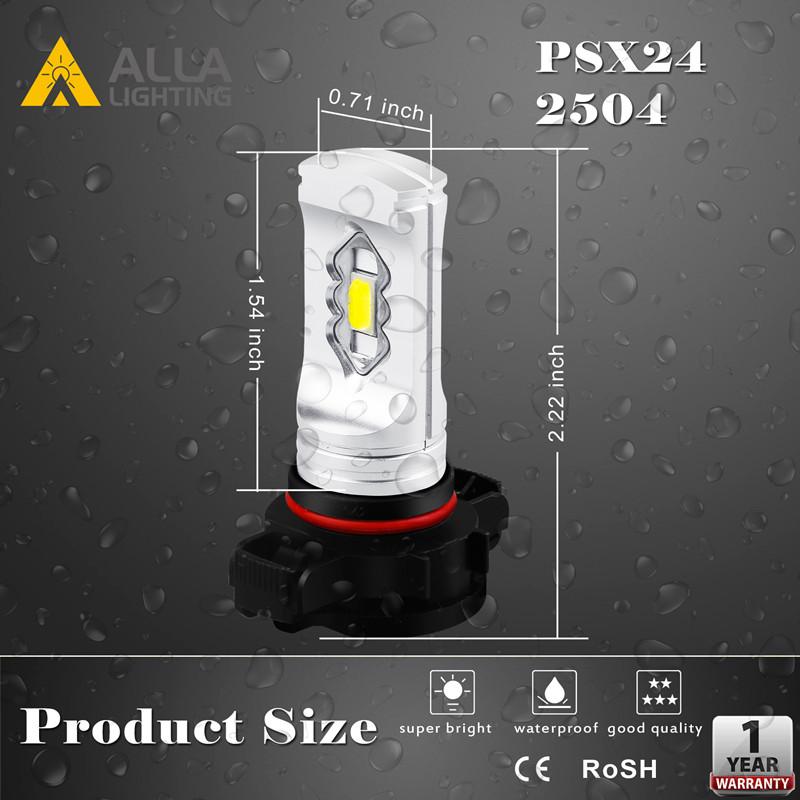 2504-PSX24W-12276-LED-Fog-Lights-Bulbs-12V-Dimension-White