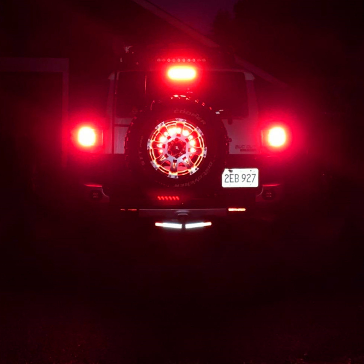 7506 1156 LED Red Bulb vs Incandescent Brake Stop Tail Light