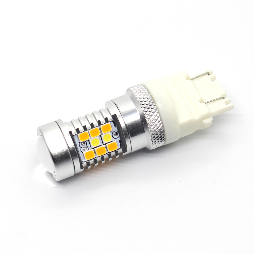 Best Jeep Wrangler LED Front Turn Signal Light Bulb 3157 White/Yellow