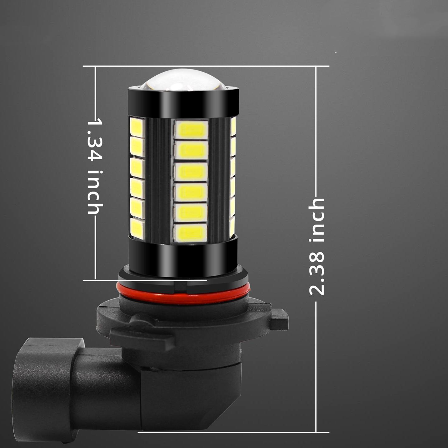 9006-HB4-LED-Fog-Lights-Bulb-6000K-Xenon-White-Dimension