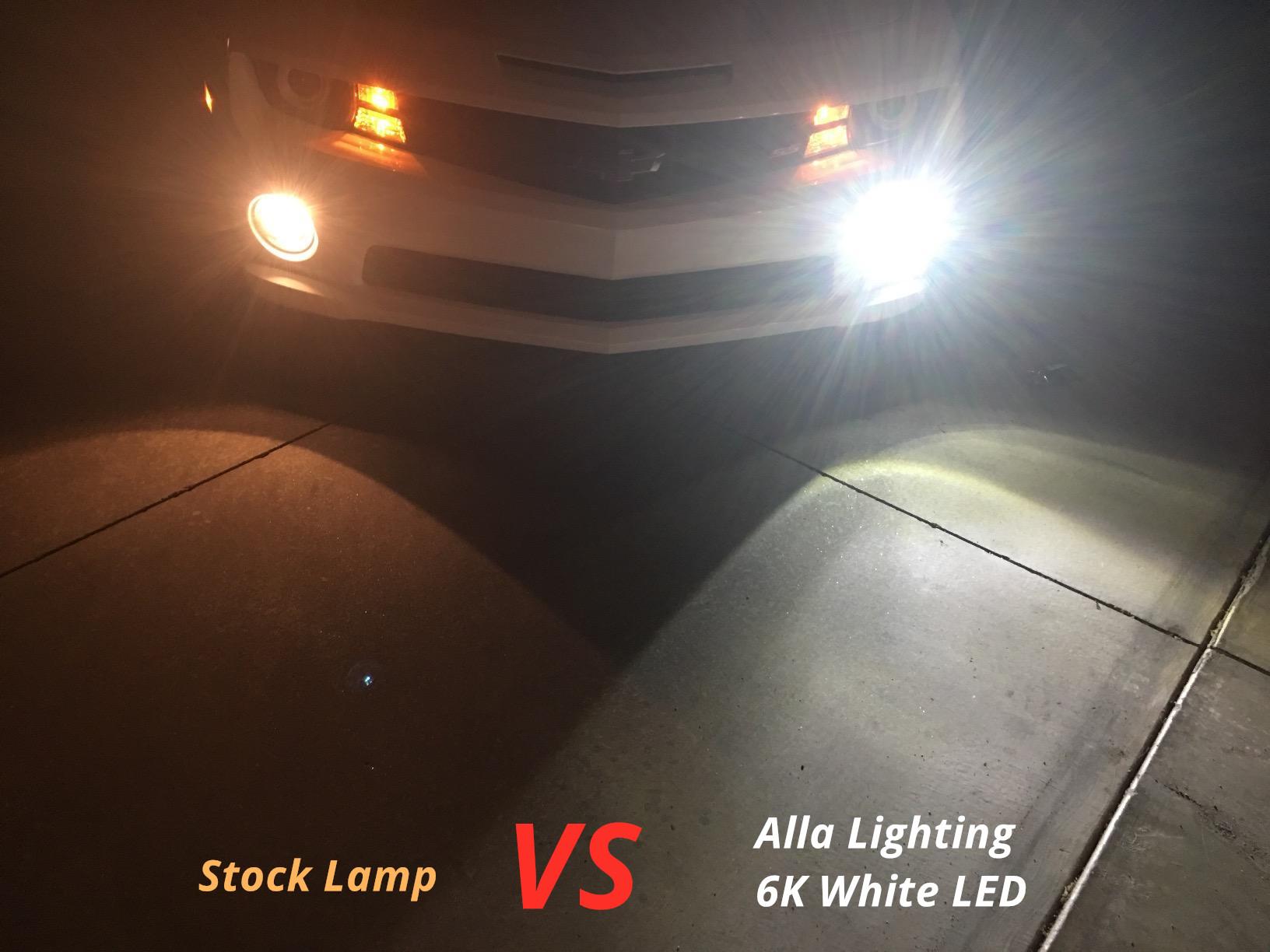 9006-HB4-LED-Fog-Lights-Bulbs-6000K-White-VS-Halogen-Lamp-Xenon