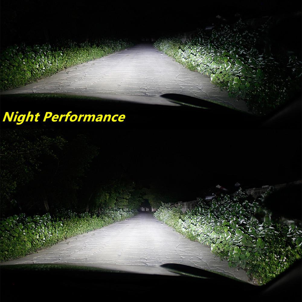 Alla Lighting 9008 H13 LED Headlights Bulb vs Halogen Headlamp