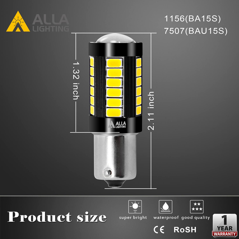 BA15S-1156-LED-Turn-Signal-Brake-Tail-Reverse-Lights-Bulbs-Dimention