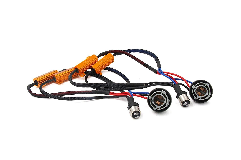 Jeep Wrangler Load Resistor Fix LED Headlight CAN-BUS Error Canceler