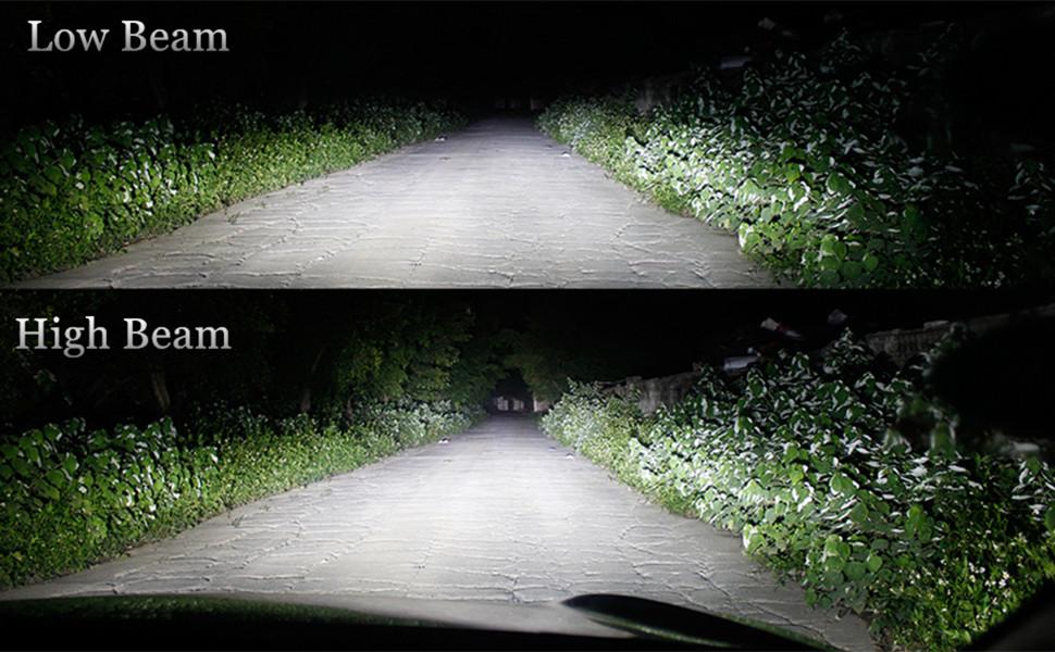 D1 D2 LED Headlights Bulb 6000K Xenon White Dual High/Low Beam Kits
