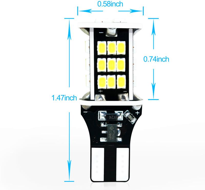 Dimension-T15-921-W16W-LED-Back-up-Reverse-Lights-Bulbs-912-6K-White