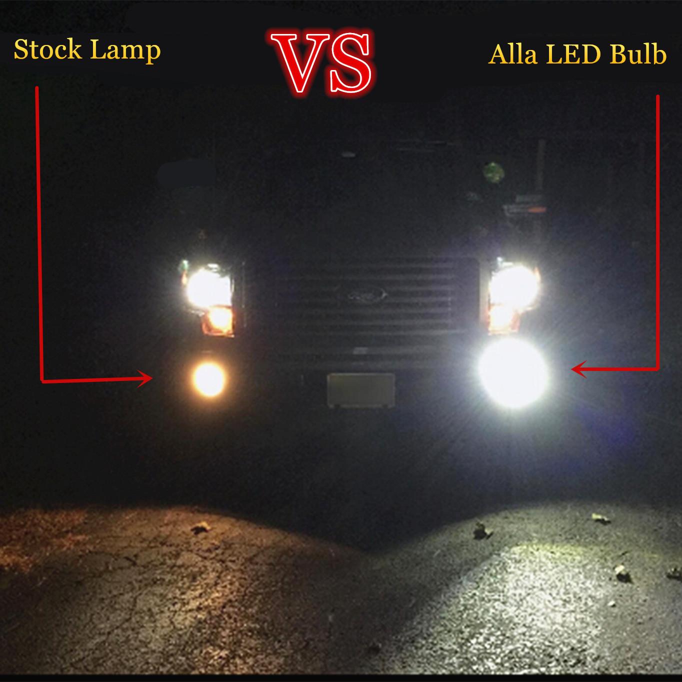 H28W-PSX26W-12278-LED-Bulbs-Fog-Lights-6K-White-vs-halogen-drl-Xenon
