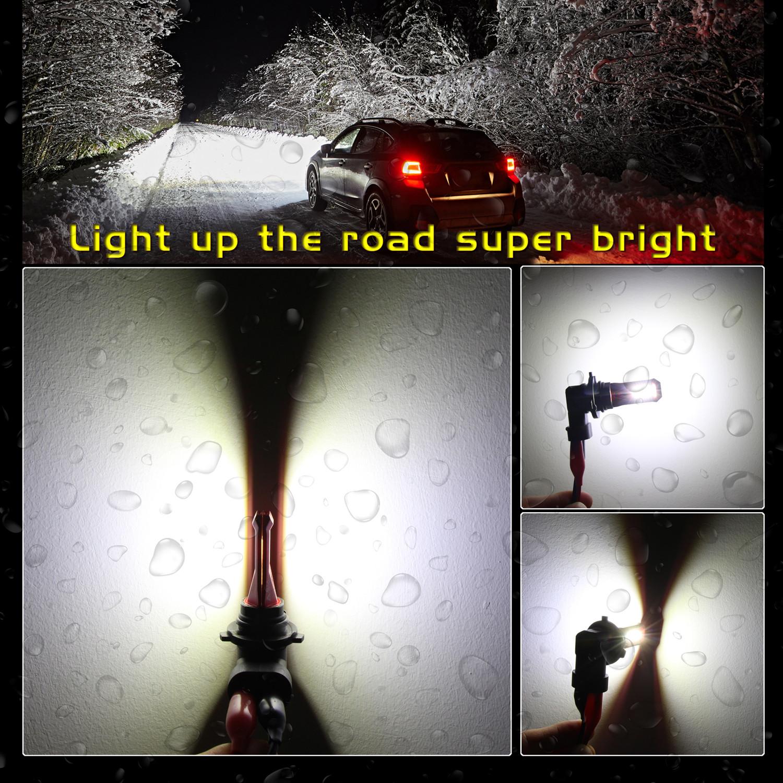 H8-H11-H16-LED-Bulbs-Fog-Lights-6000K-Xenon-White-VS-Halogen-SMD