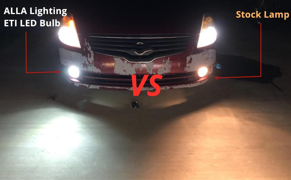 HB4-9006-LED-Fog-Lights-Bulb-12V-6K-Xenon-White-vs-halogen-lamp