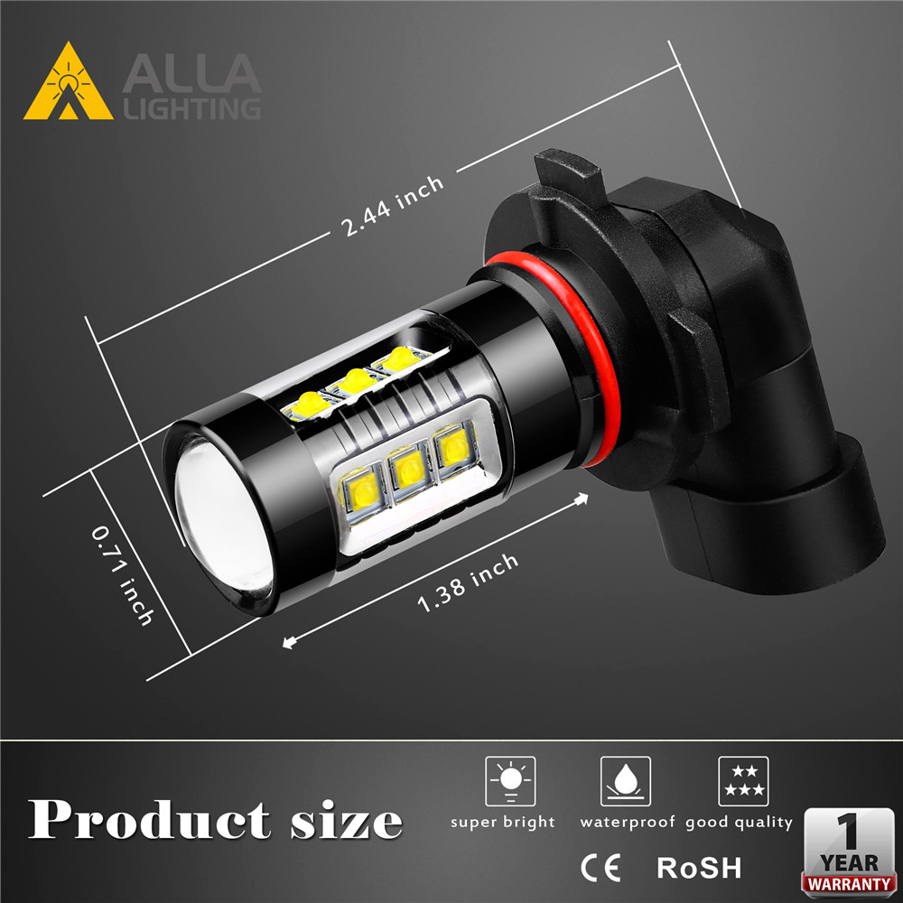 SH23W-P13W-12277-LED-Daytime-Running-Light-Bulb-DRL-6K-White-Dimension