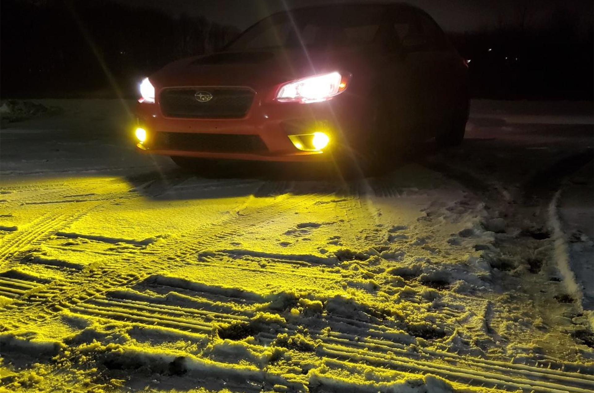 Subaru-crosstrek-headlights-fog-lights-bulbs-white-yellow-H11-Upgrade