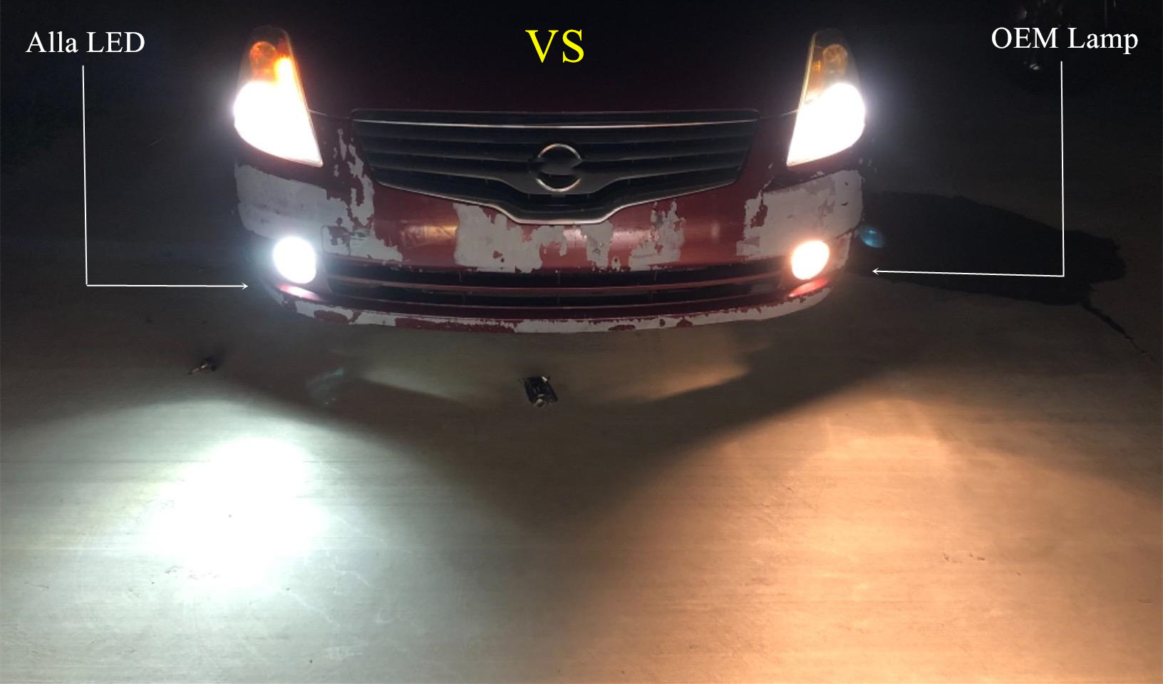 Super-bright-LED-HB4-9006-Bulbs-Fog-Lights-6000K-White-VS-Halogen-Lamp