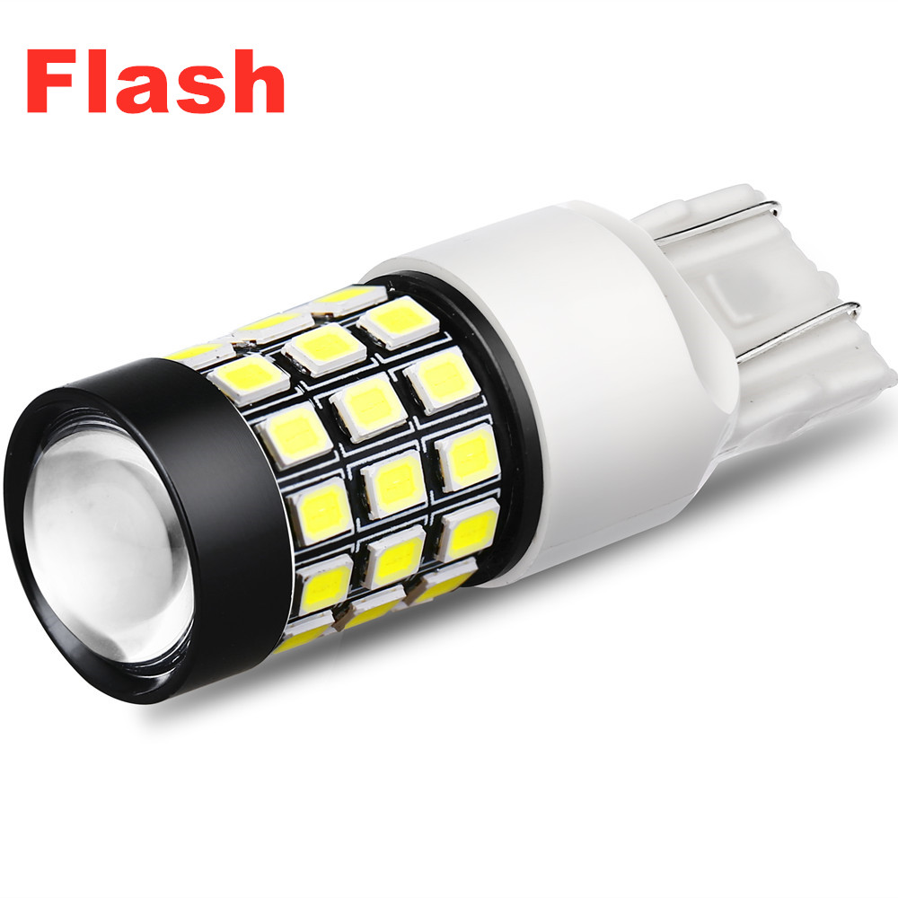 T20 7440 7443 LED White Strobe Back Up Reverse Flash Brake Stop Lights