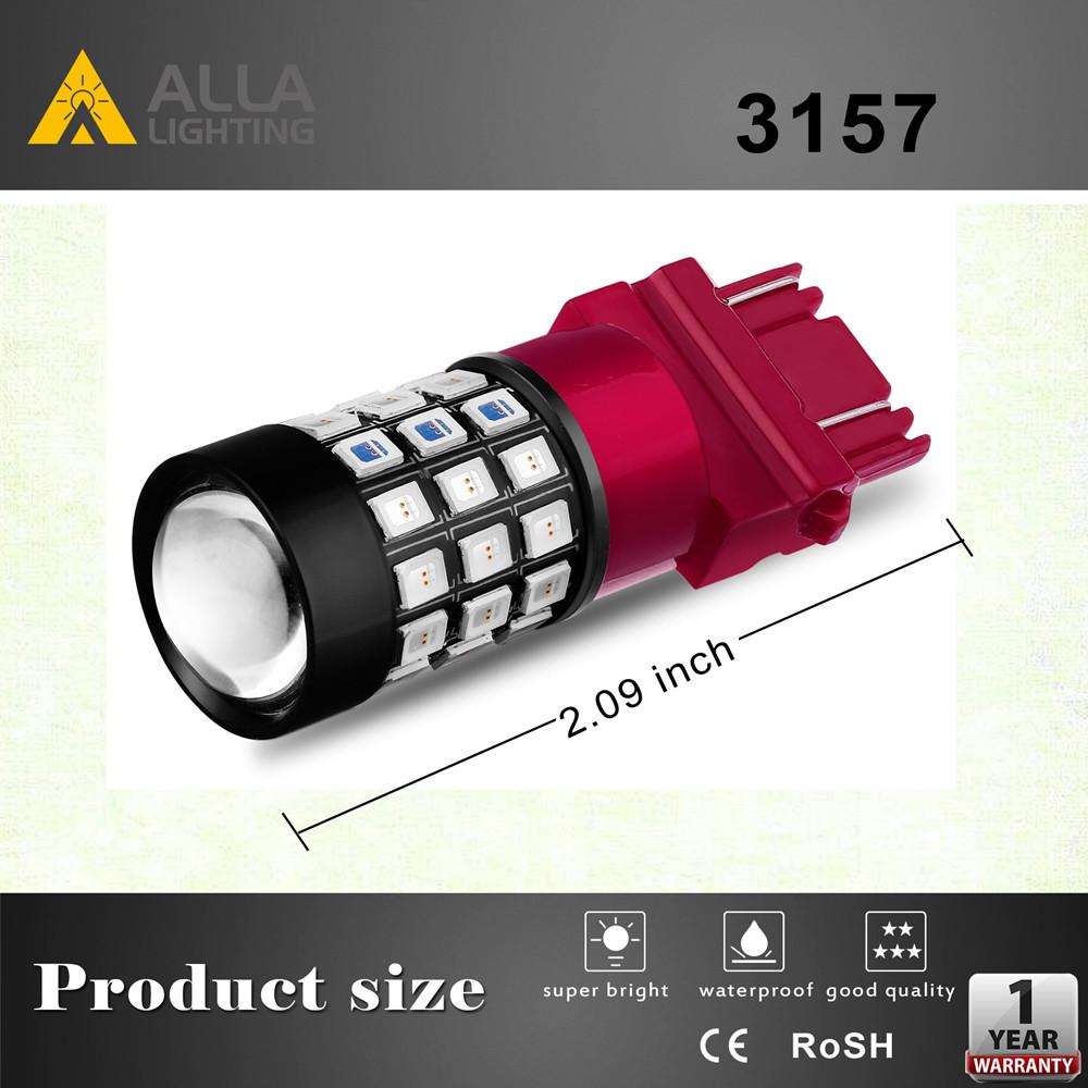 T25 3156 3157 LED Strobe Brake Lights Bulbs Flashing Reverse White Red