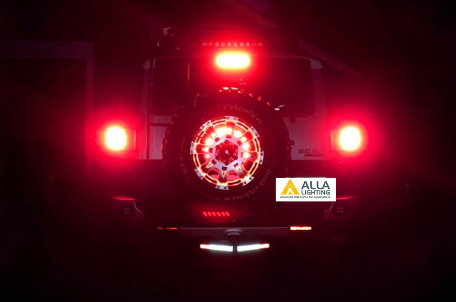 Toyota-FJ-Cruiser-Brake-Tail-Lights-7443-Red-LED-Bulbs-Cars-SUVs-12V