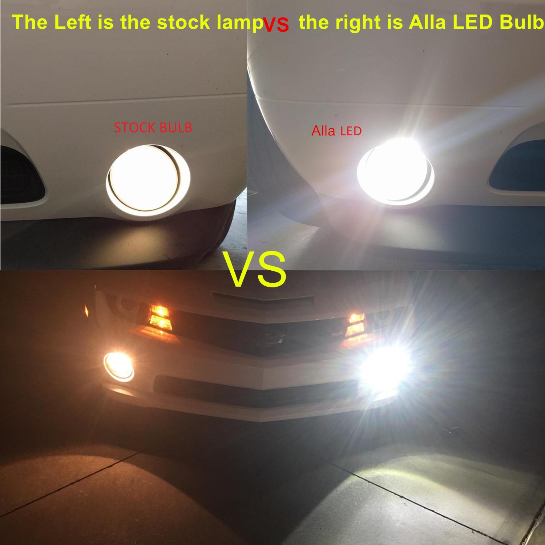 H3 LED Bulbs Fog Lights 6000K Xenon White vs Halogen Lamp